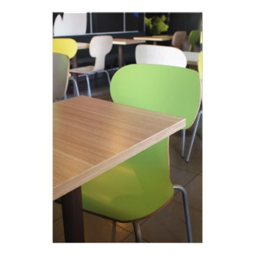 Empty tables and chairs in cafes without visitors stationery