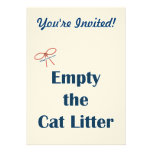 Empty The Cat Litter Reminders Personalized Invites