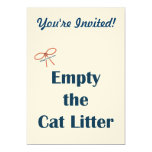 "Empty The Cat Litter Reminders 5"" X 7"" Invitation Card"