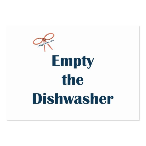 Empty The Dishwasher Reminders Business Card Template