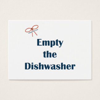 Empty The Dishwasher Reminders Business Card