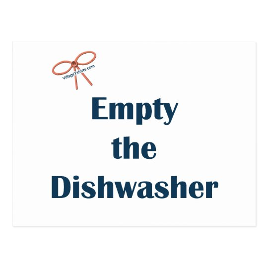 Empty The Dishwasher Reminders Postcard