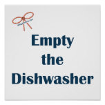 Empty The Dishwasher Reminders Posters