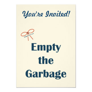 Empty The Garbage Reminders Card