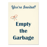 Empty The Garbage Reminders Personalized Invites