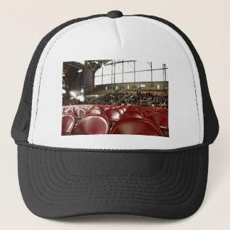 Empty Themed, Front Rows Of Empty Red Seats Prepar Trucker Hat