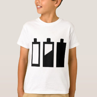 empty to full batteries T-Shirt