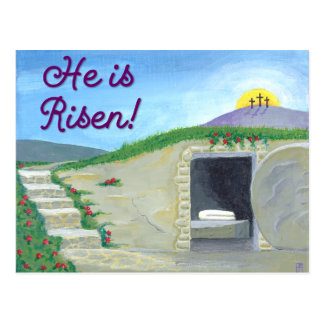 Empty Tomb Inspirational Post Card