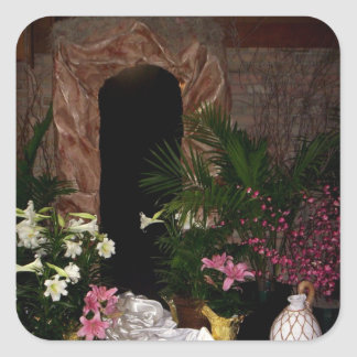 Empty Tomb of Easter Square Sticker