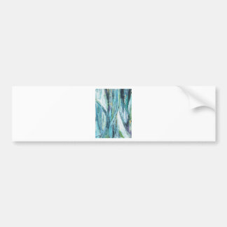 Empty Urban Street at Night abstract streetscape Bumper Stickers