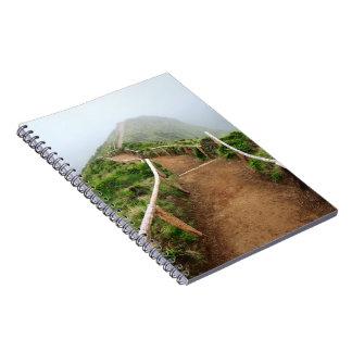 Empty walking trail notebook