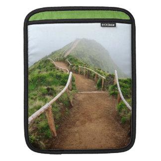 Empty walking trail sleeve for iPads