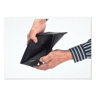 Empty wallet card