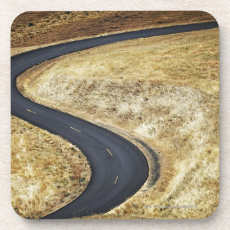 Empty winding paved road coaster