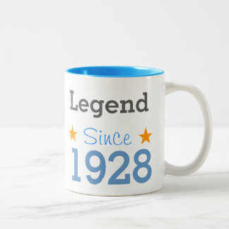 Emptying Since 1928 Two-Tone Coffee Mug