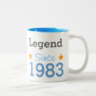 Emptying Since 1983 Two-Tone Coffee Mug
