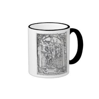 Emptying the Chamber Pots Ringer Coffee Mug