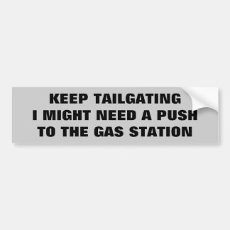 Empuje a la gasolinera pegatina para auto
