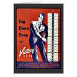 Empuje abajo profundamente para la victoria 1942 tarjeta