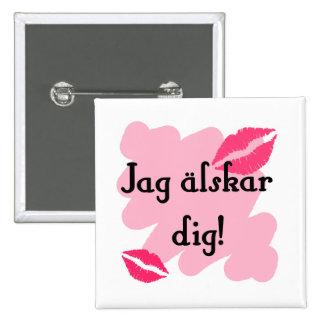 Empuje älskar de la punta - sueco pin cuadrado