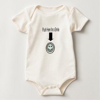 Empuje aquí para una ropa del bebé de la sonrisa traje de bebé