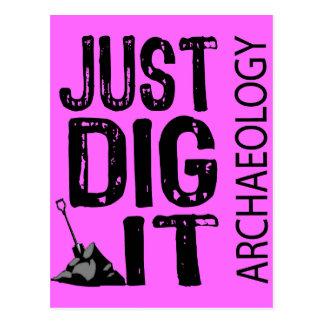 Empuje de la arqueología él tarjeta postal