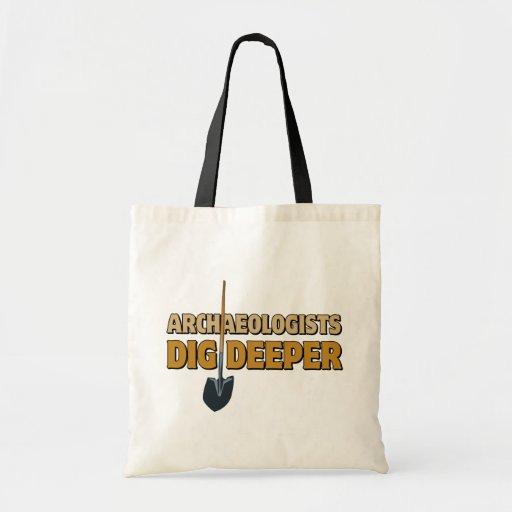 Empuje del arqueólogo bolsa tela barata