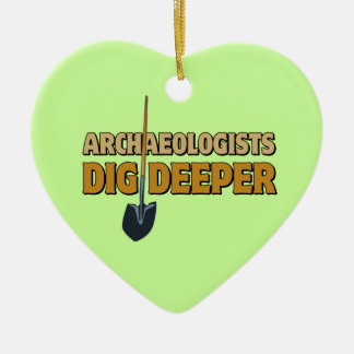 Empuje del arqueólogo ornaments para arbol de navidad