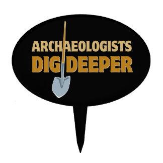 Empuje del arqueólogo palillos de tarta