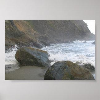 Empuje del La Costa del Pacífico - WA Poster