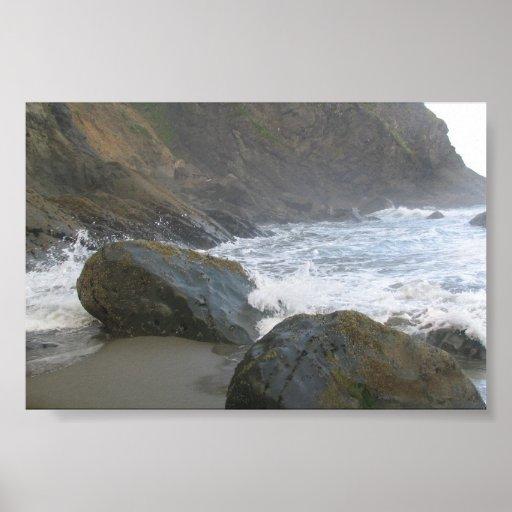 Empuje del La, Costa del Pacífico - WA Póster