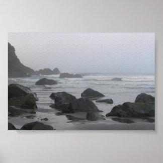 Empuje del La Costa del Pacífico - WA Posters