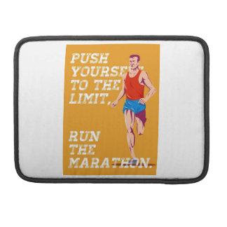 Empuje del maratón al poster del límite fundas macbook pro