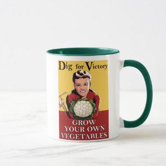Empuje del vintage para la taza del regalo de la