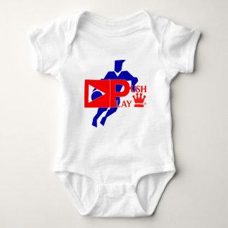Empuje el baloncesto atlético del desgaste del mameluco de bebé