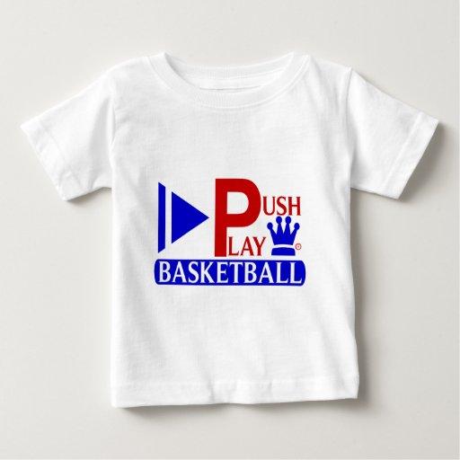 Empuje el baloncesto atlético del desgaste del playera de bebé