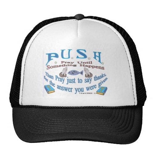 empuje el gorra