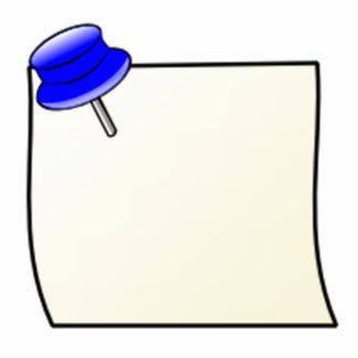 Empuje el Pin y la nota Fotoescultura Vertical