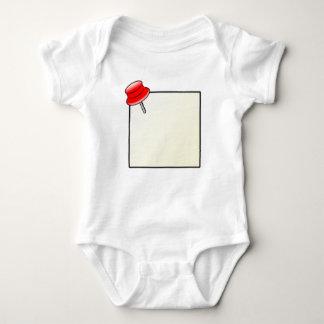 Empuje el Pin y la nota Mameluco De Bebé