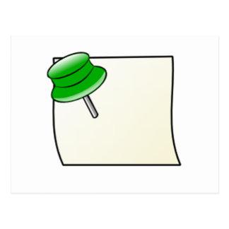 Empuje el Pin y la nota Postales