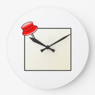 Empuje el Pin y la nota Reloj Redondo Grande