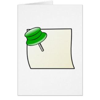 Empuje el Pin y la nota Tarjeta Pequeña