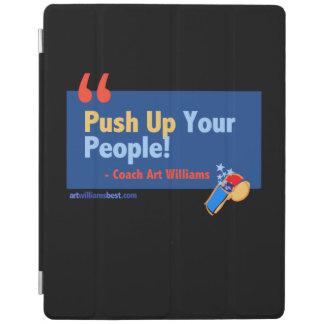 Empuje hacia arriba la cubierta del iPad de la Cover De iPad
