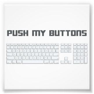 Empuje mi teclado de ordenador de los botones fotografias