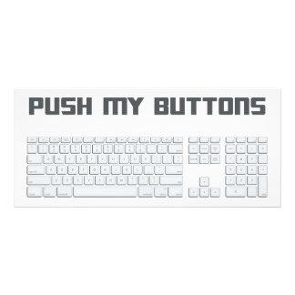 Empuje mi teclado de ordenador de los botones tarjeta publicitaria