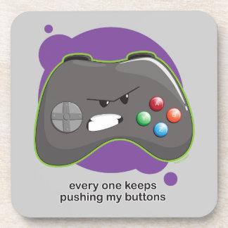Empuje mis botones posavasos de bebidas