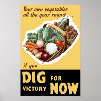 Empuje para la victoria ahora -- WW2 Posters
