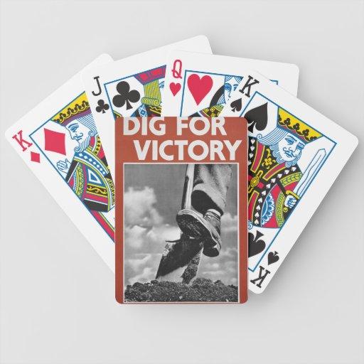 Empuje para la victoria baraja cartas de poker