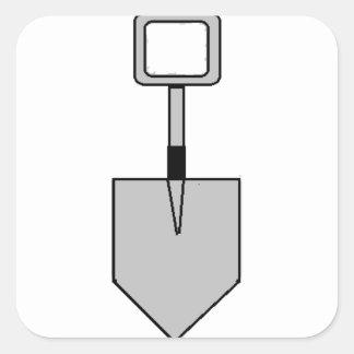 ¡Empuje! (símbolo de la espada) (grande) Pegatina Cuadrada