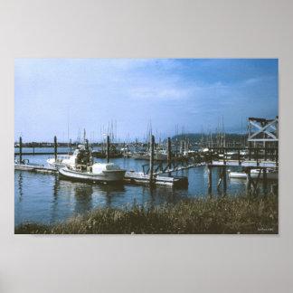 Empuje Washington del LA de las flotas pesqueras Póster